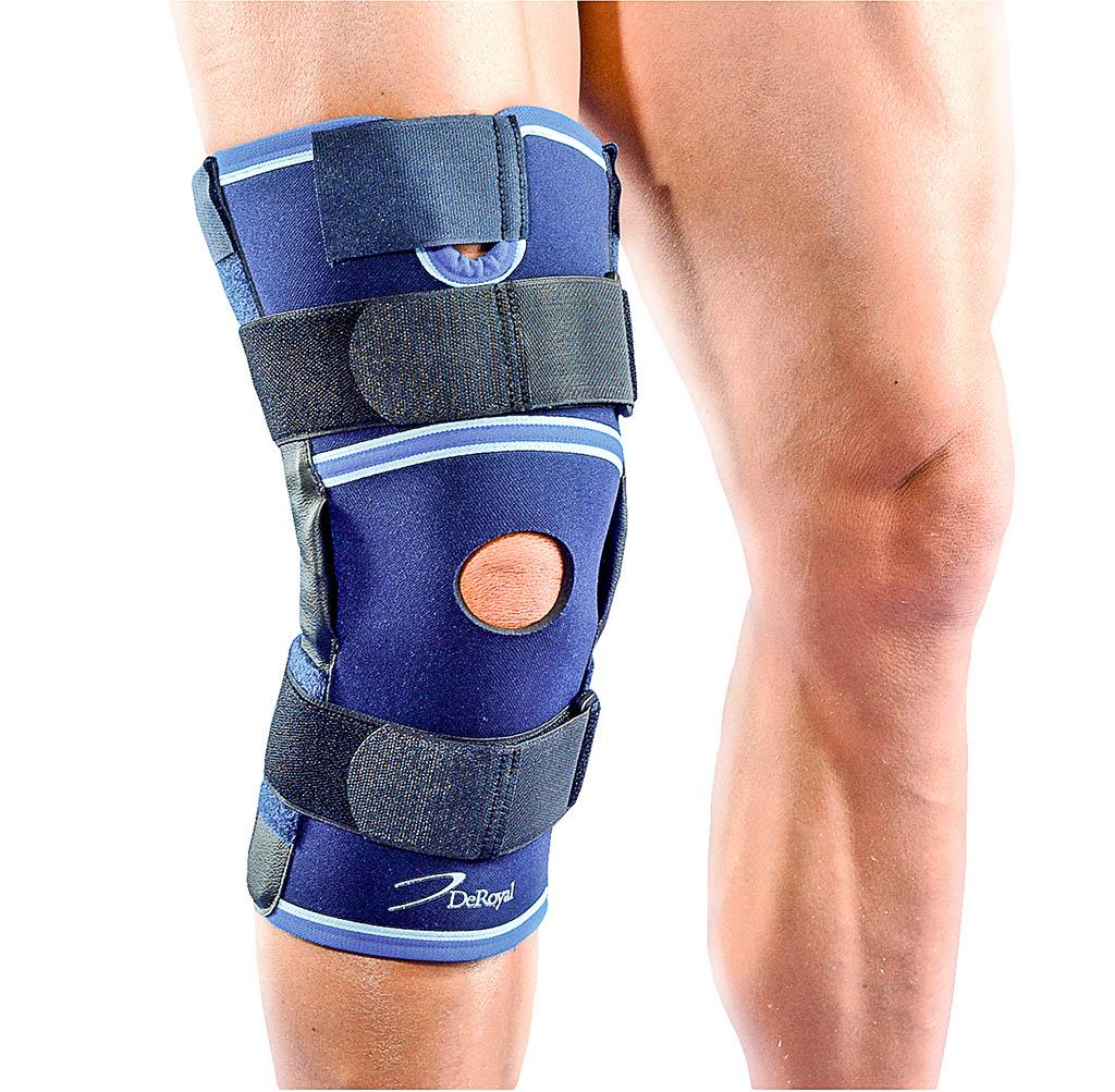 knäskydd med stabiliserande skenor